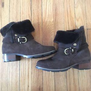 Ozlamb Ugg Wool Lined Heeled Boots